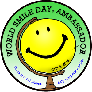 World Smile Day 2015 Ambassador Sticker